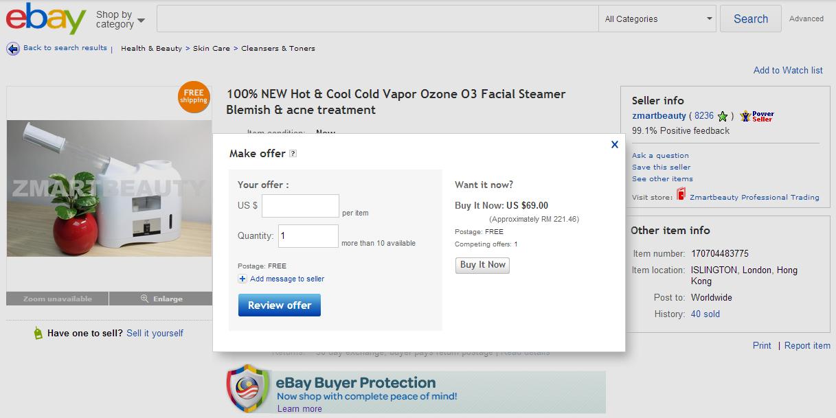 How to make offer on eBay