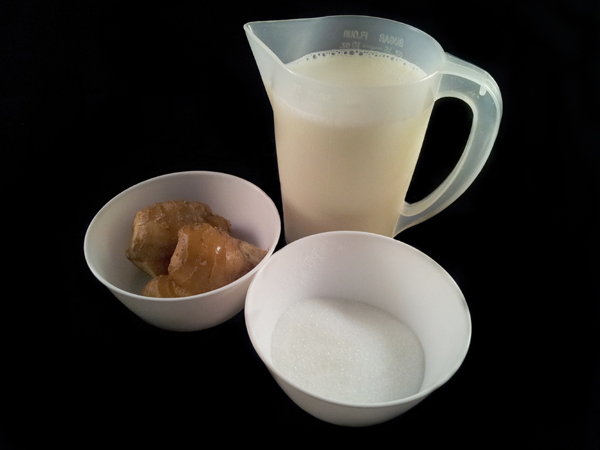 Chinese Ginger Milk Curd Ingredients