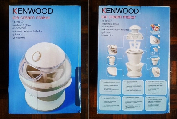 Kenwood Ice Cream Maker IM280 Product Box