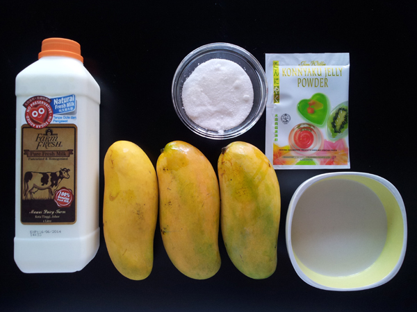 Mango Pudding With Coconut Milk Ingredients