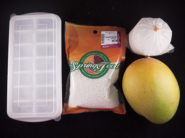 Mango Sago Dessert Ingredients