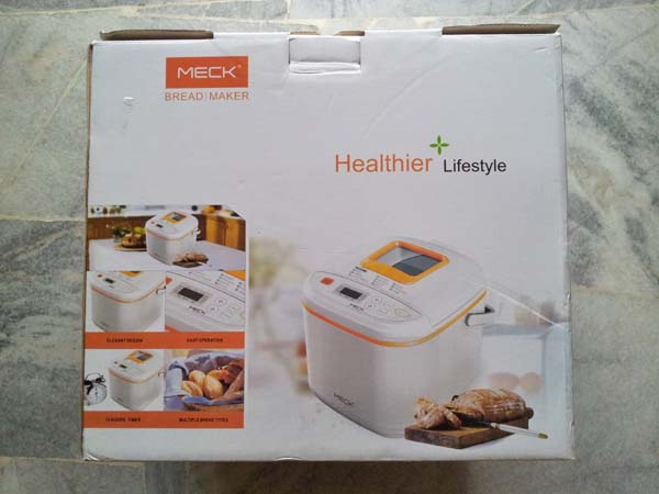 Meck Bread Maker Product Box
