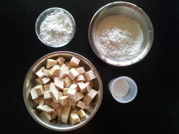 Taiwanese Taro Balls Ingredients