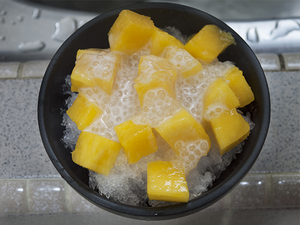 add sago with coconut milk