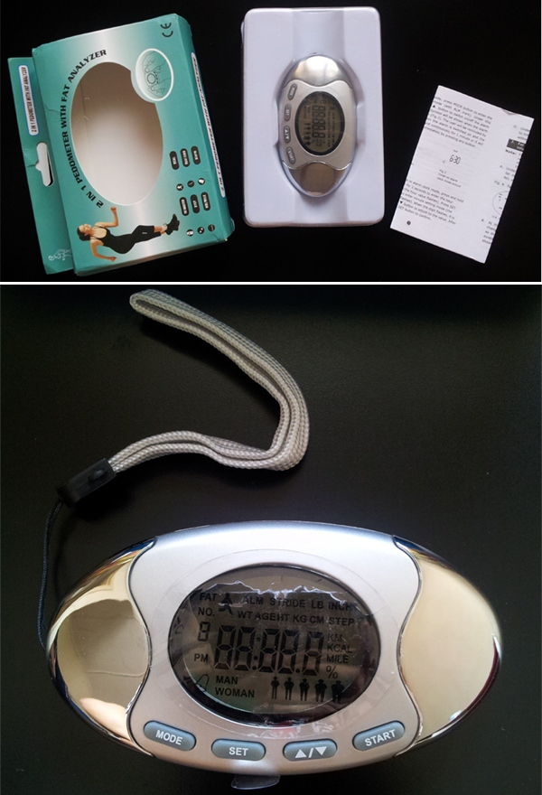 2 in 1 Pedometer with Fat Analyzer