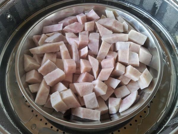 steamed taro