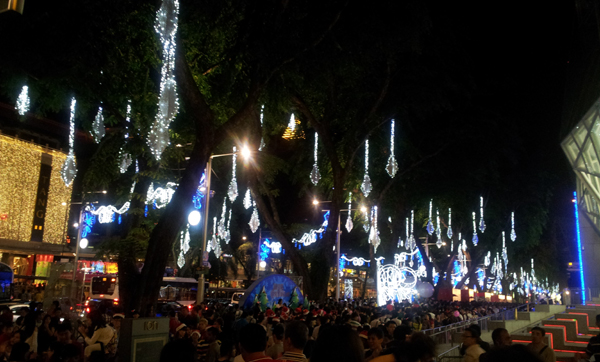 Christmas Eve at Singapore Orchard Road