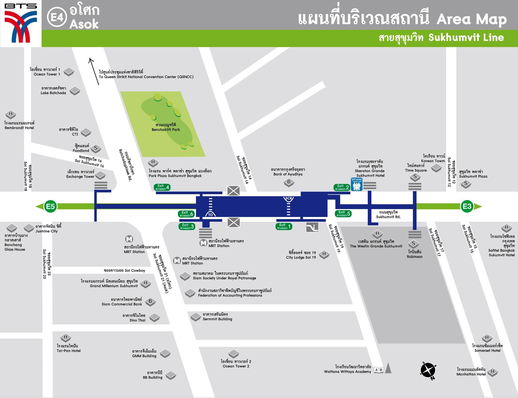 Asok Bts Station Map