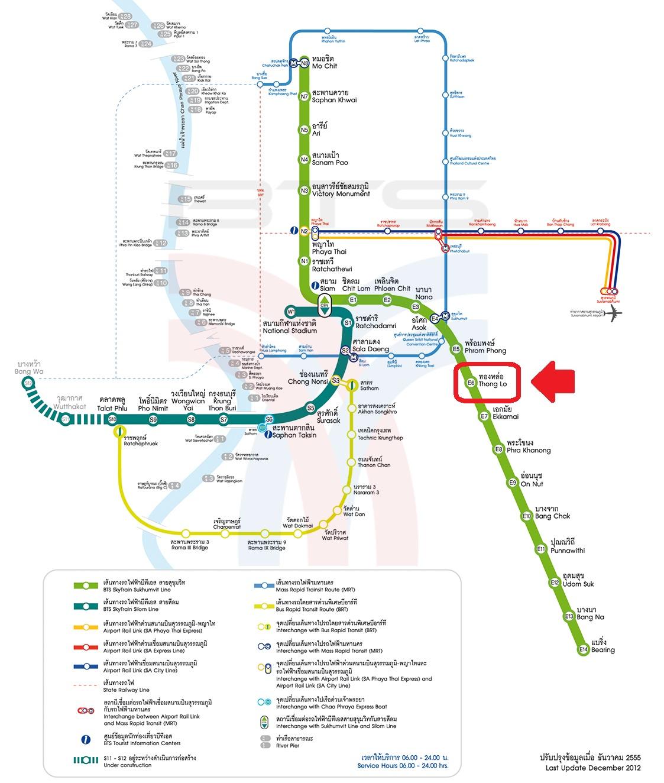 Bangkok SkyTrain Map Thong Lo