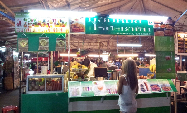 On Nut Food Market Juices and Pancake Stall