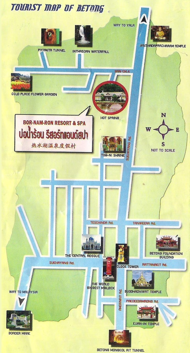 Betong Thailand Map