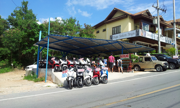 How to rent a motorbike in Koh Samui