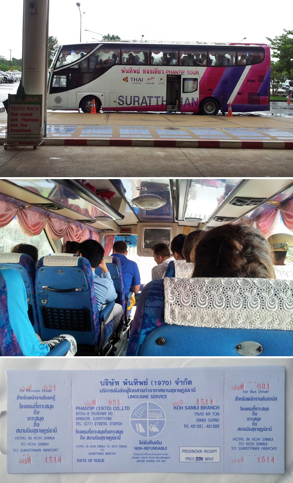 Shuttle bus to Koh Samui from Surat Thani Airport